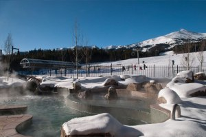 Outdoor Pool at Grand Lodge on Peak 7 Luxury Condos Breckenridge Colorado