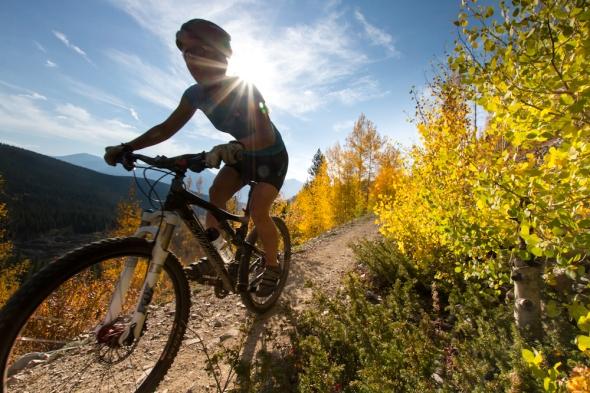 biking in breck