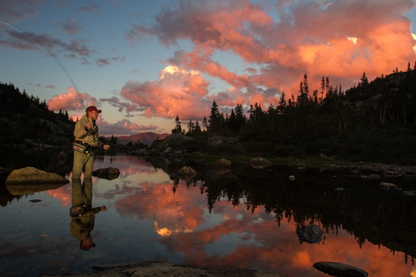 fly fishing in Breckenridge, Colorado