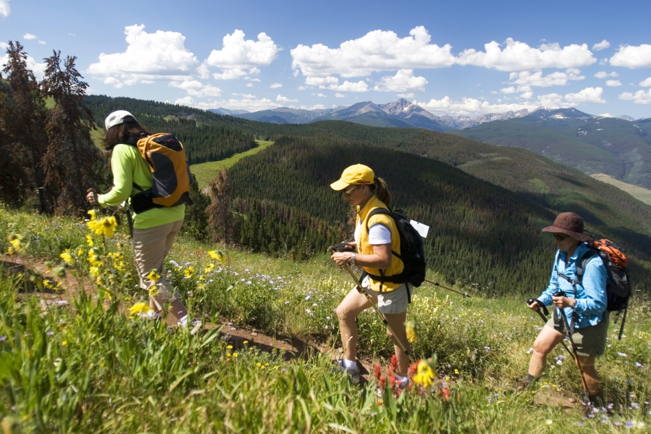 Summer hiking in Breckenridge Colorado