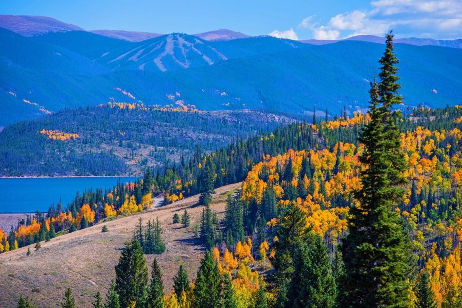 Dillon, Silverthorne Colorado Landscape. Fall in Colorado