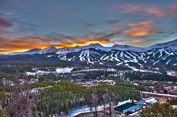 Sunset in Breckenridge HDR Winter Photography.